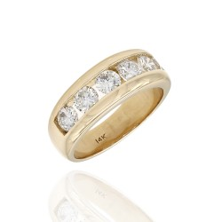 Channel Set Diamond Ring in Gold