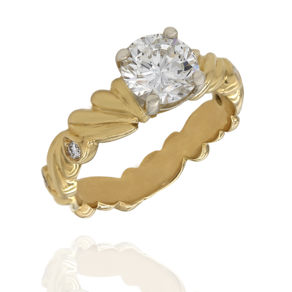 Diamond Solitaire Ring in Gold