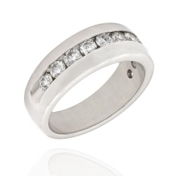 Channel Set Diamond Gents Band in Gold