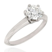 1.00ct Round Diamond Solitaire Ring in Platinum