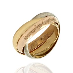 Cartier Trinity Rings in 18K 3 Tone Gold