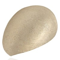 14K Brushed Tapered Dome Ring