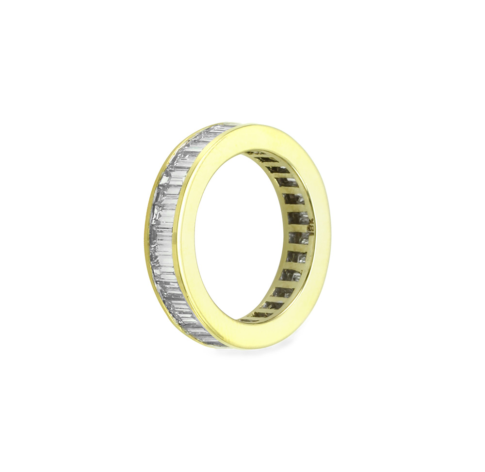 Baguette Diamond Eternity Band in Gold