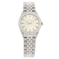 Rolex Stainless Steel Air-King 5500 Diamond Bezel