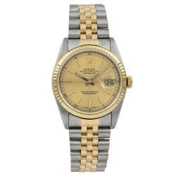 Rolex Datejust Stainless Steel 18k Yellow Gold 16233