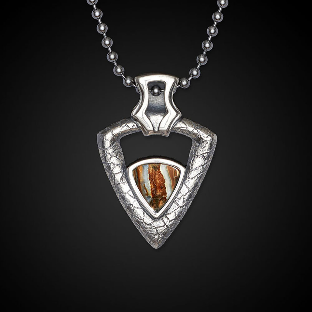 William Henry Mammoth Fervor Sterling Silver Mammoth Tooth Necklace