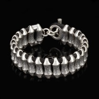 William Henry Surge 2 Sterling Silver Bead Paracord Toggle Bracelet