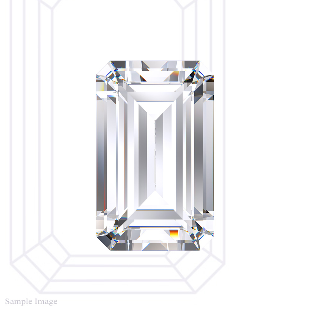 0.58 Carat Emerald Cut Diamond