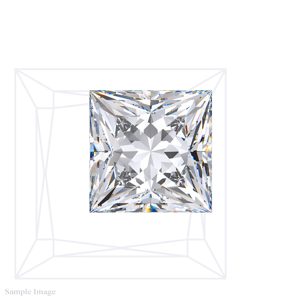 0.77 Carat Princess Cut Diamond