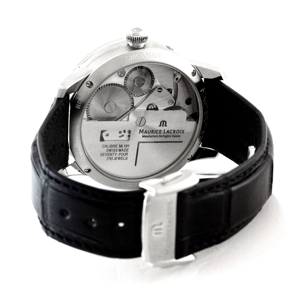 Maurice Lacroix Masterpiece Calendrier Retrograde GMT Black Dial