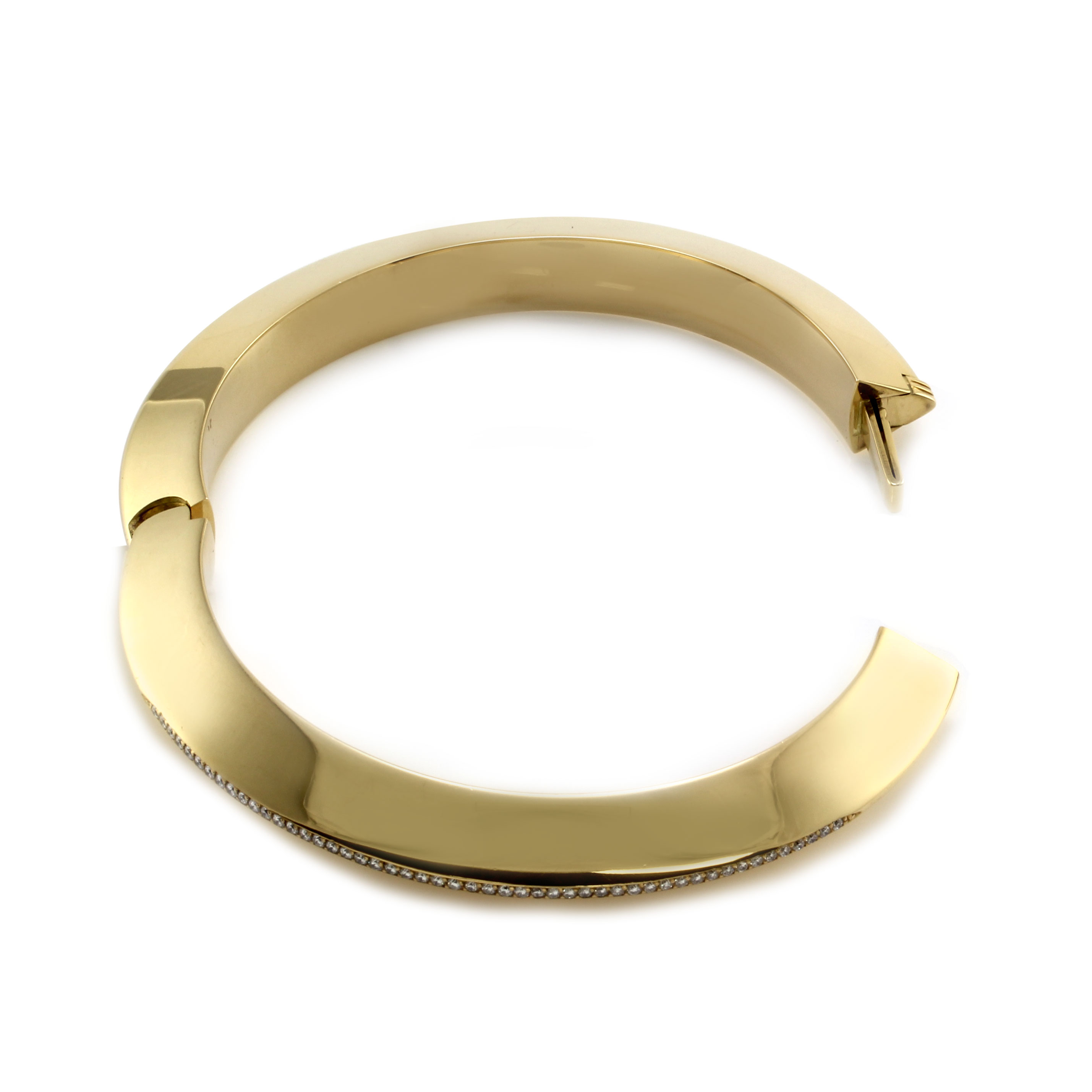 Isabelle Fa Pave Diamond Bangle Bracelet in Gold