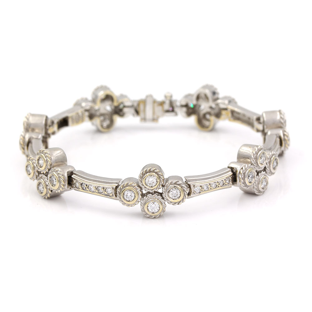 Diamond Cluster Bracelet in Gold