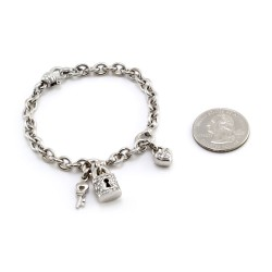 Chain Bracelet with Charms in Gold