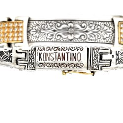 Konstantino Orpheus Pave Diamond Bracelet in Sterling and Gold