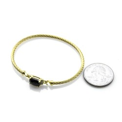 David Yurman Wheaton Collection Onyx & Diamond Bracelet in 18K Yellow Gold