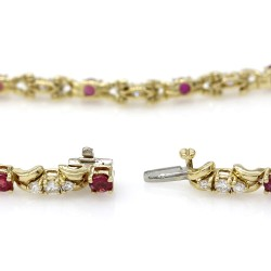 Ruby and Diamond Bracelet in Gold