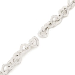 Tiffany & Co. Heart Link Bracel;et in Silver and Gold