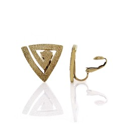Hammerman Brothers Modernist Triangle Clip-On Earrings in Gold
