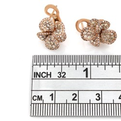 14KR Diamond Flower Earrings