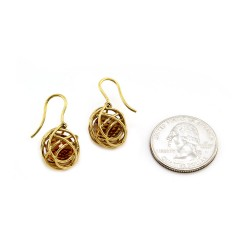 Cede Caged Citrine Earrings in Gold