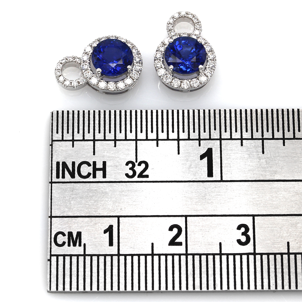 Sapphire and Diamond Earring Charms in Gold