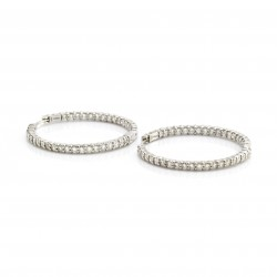 Vintage Roberto Coin Perfect Diamond Hoops Inside-Out Earrings in Gold