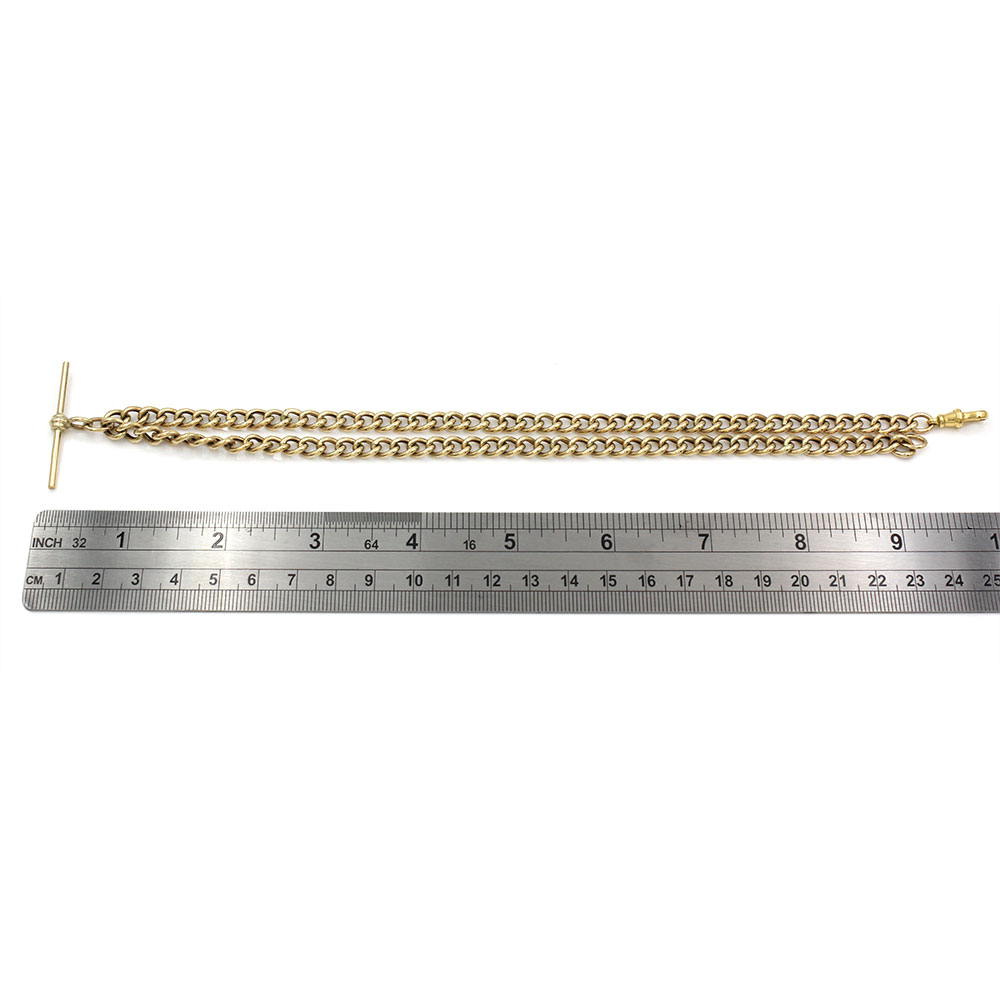 Chain Watch Fob in Gold