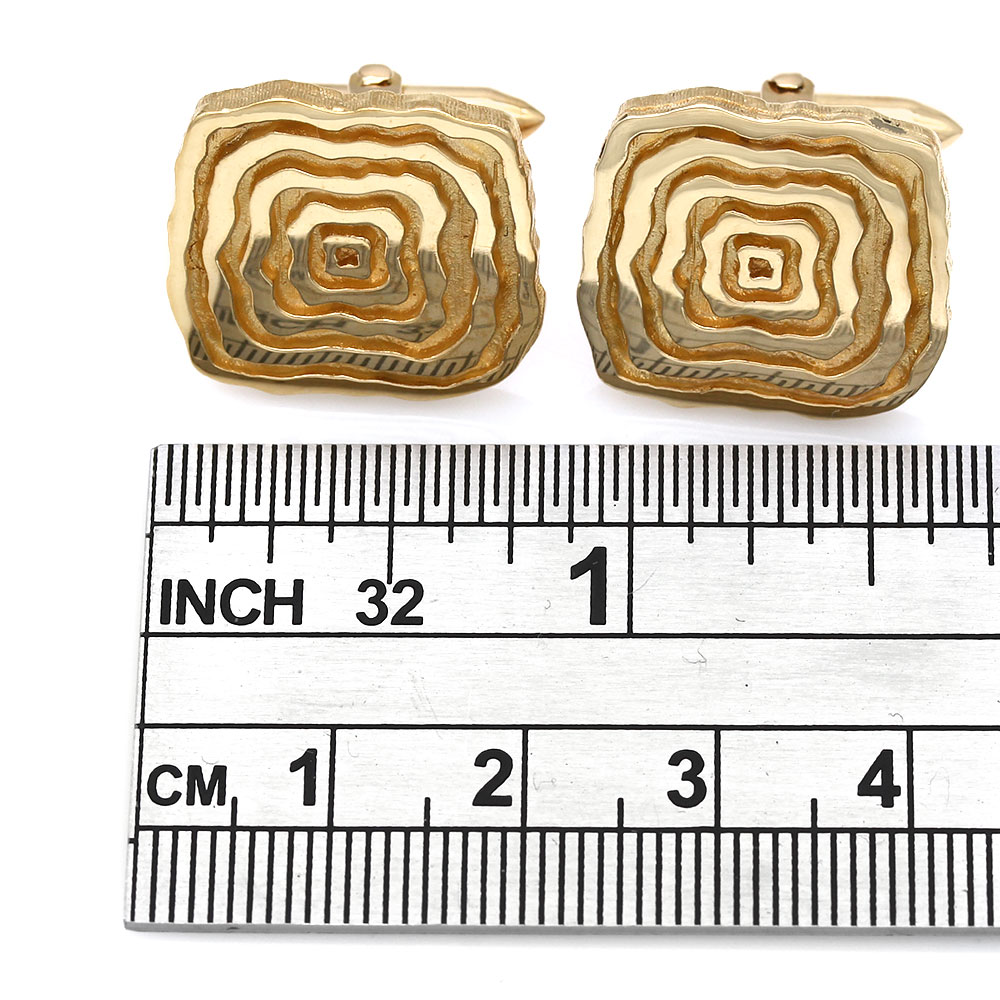 Grooved, Square Free Form Cufflinks