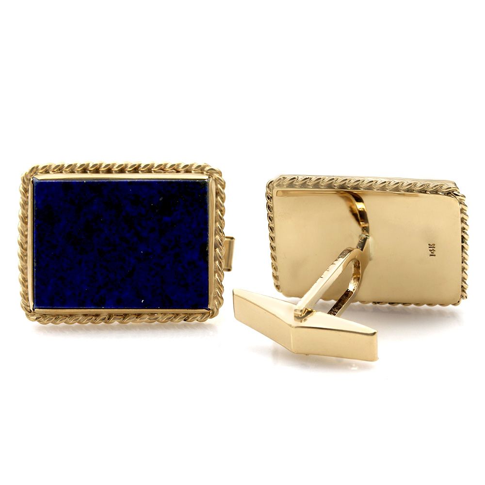 Rope Edge Lapis Cufflinks
