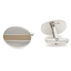 Tiffany & Co. Sterling and 18K Oval Cufflinks