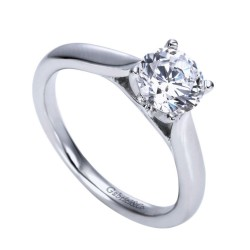 Gabriel & Co. Diamond Solitaire Gold Ring Mounting