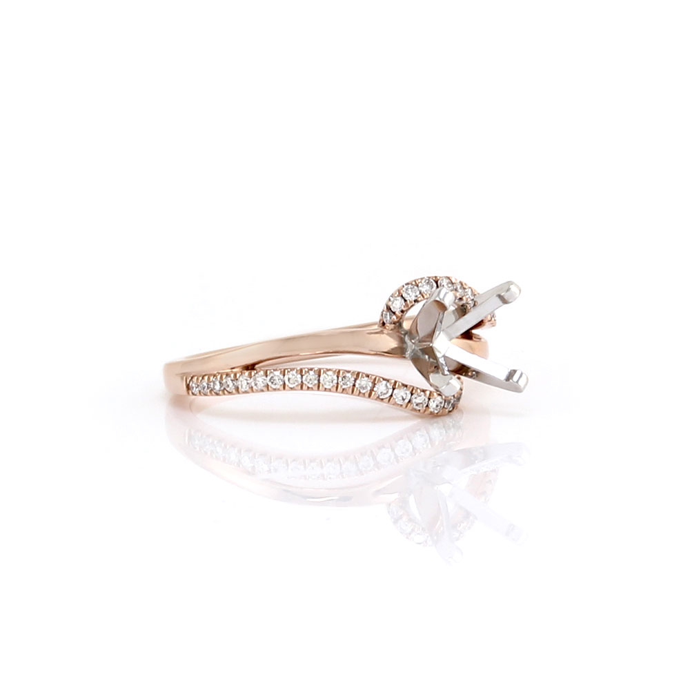 Gabriel & Co. Naomi Diamond and Gold Ring Mounting
