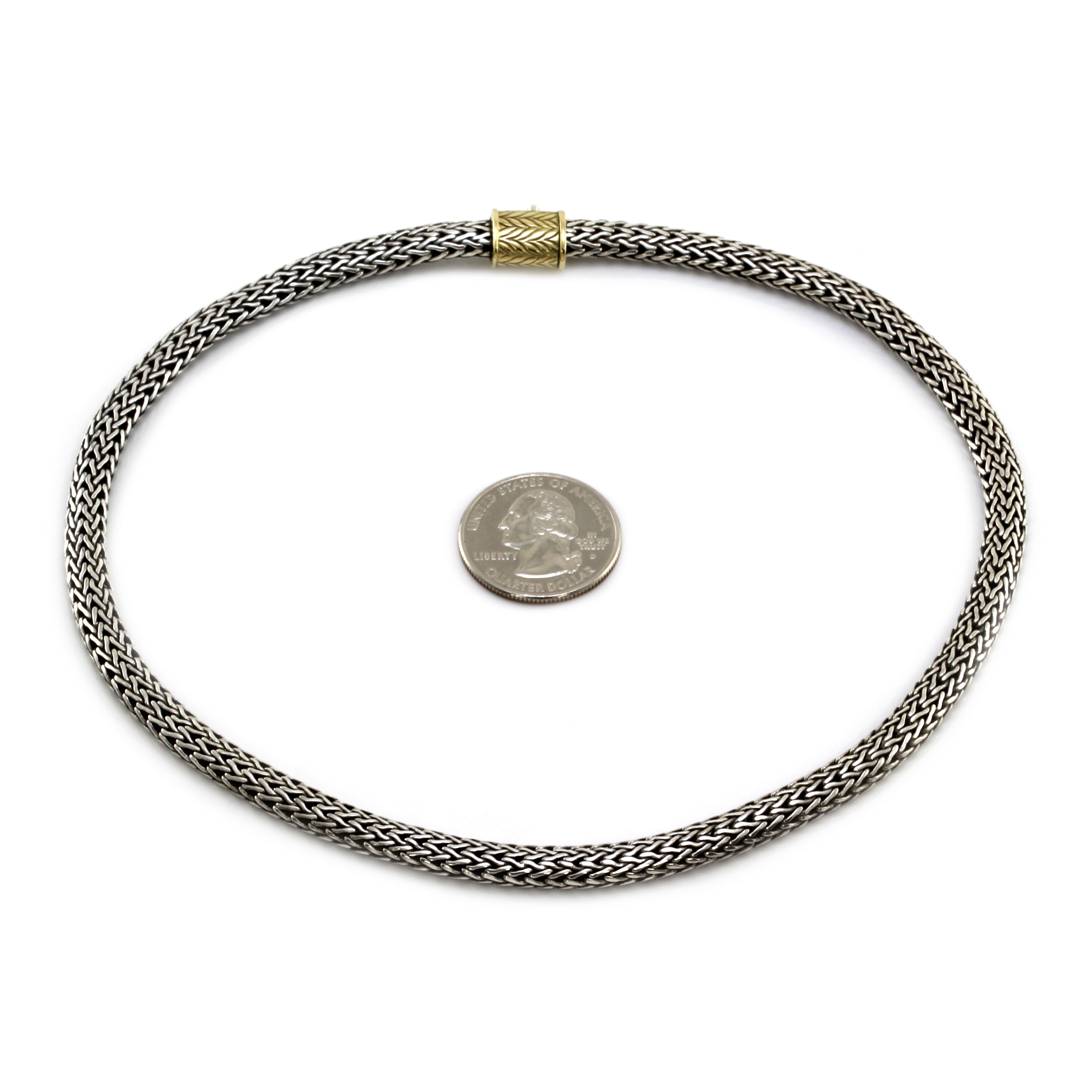 John Hardy Classic Necklace in Silver and Gold