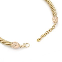 Twisted Snake Chain Necklace in Gold