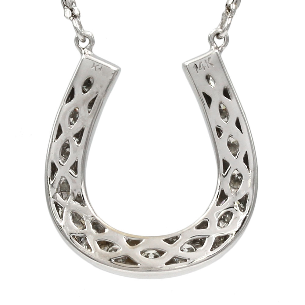 Diamond Horseshow Necklace in Gold