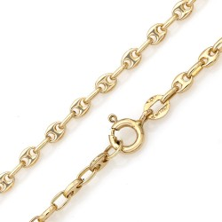 Mariner Link Chain Necklace in Yellow Gold