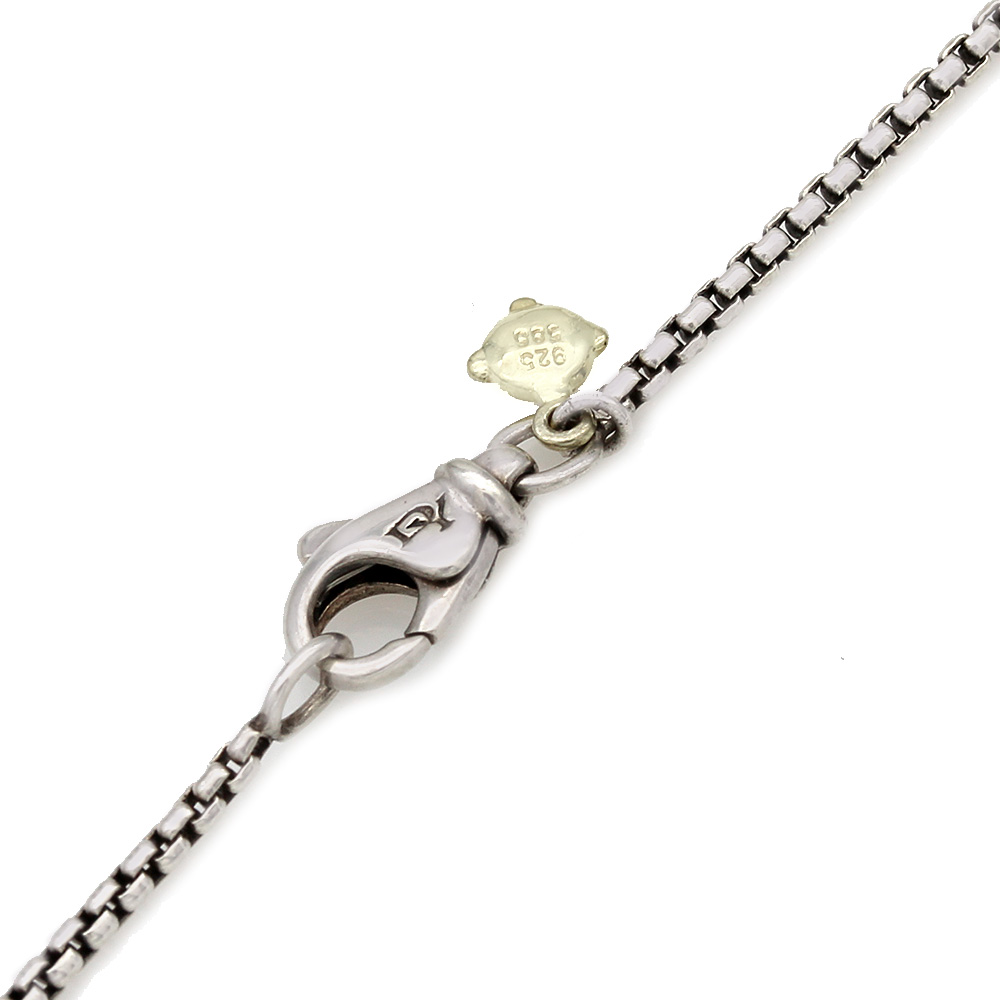 David Yurman Petite Albion Chalcedony and Diamond Necklace