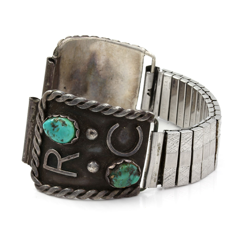 Navajo Silver & Turquoise Watch Bands