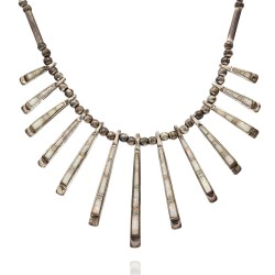 Navajo Sterling Silver & Opal Inlay Necklace & Earrings Set