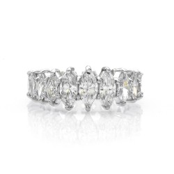 Marquise Cut Diamond Eternity Band/ Ring in Platinum