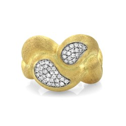 Nanis Cachemire Pave Diamond Ring in Gold