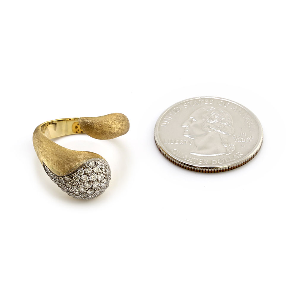 Nanis Cachemire Pave Diamond Bypass Ring in Gold