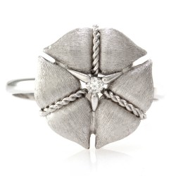 Nanis Amarcord Collection Ring with Diamond Solitaire in 18K White Gold