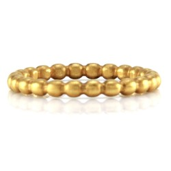 Norman Covan Scalloped Gold Eternity Band
