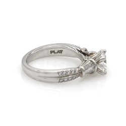 Scott Kay Plat Engagement Ring with Round Center