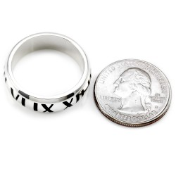 Tiffany & Co. Atlas Collection Sterling Silver Band/ Ring