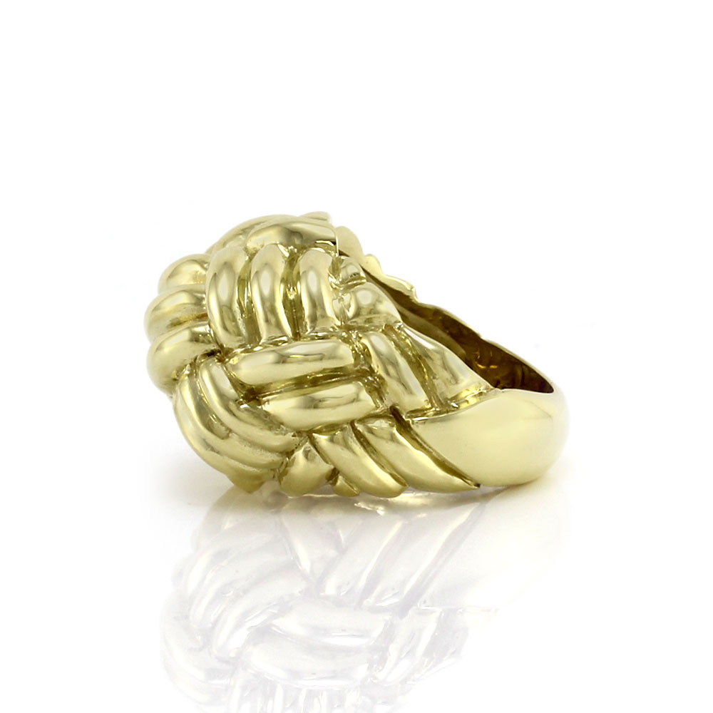 Tiffany & Co Gold Woven Knot Ring
