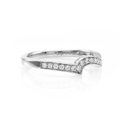 Gabriel & Co. Pave Diamond and Gold Anniversary Band
