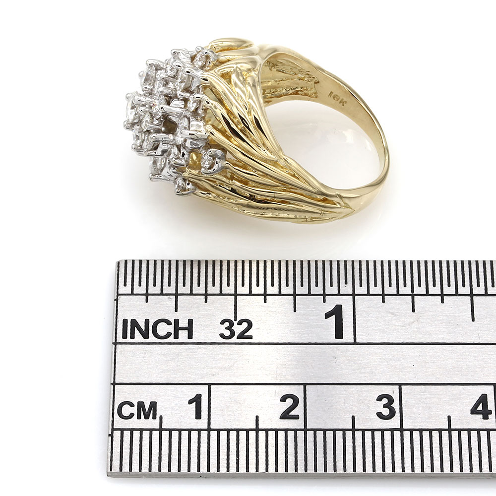 Diamond Cluster Ring in Gold