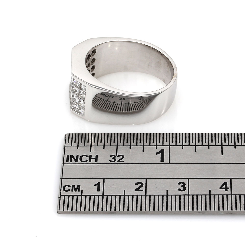 Invisible Princess Diamond Ring in Gold